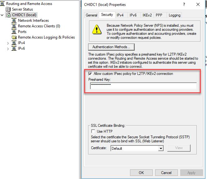 Configure L2tp Vpn Windows Server 2012