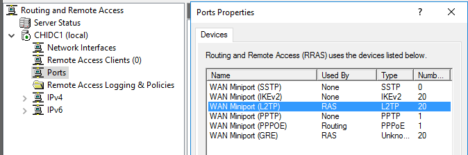 Configuring L2TP VPN on Windows Server | Kuhnline com