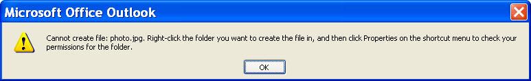 Outlook Temp Folder Full