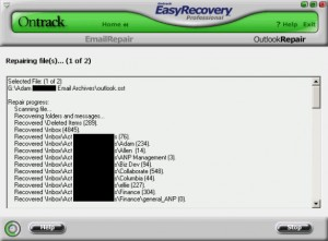 Easy Recovery Professional Converts OST emails to PST